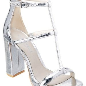 Kenneth Cole NY Deandra Metallic Leather Sandals